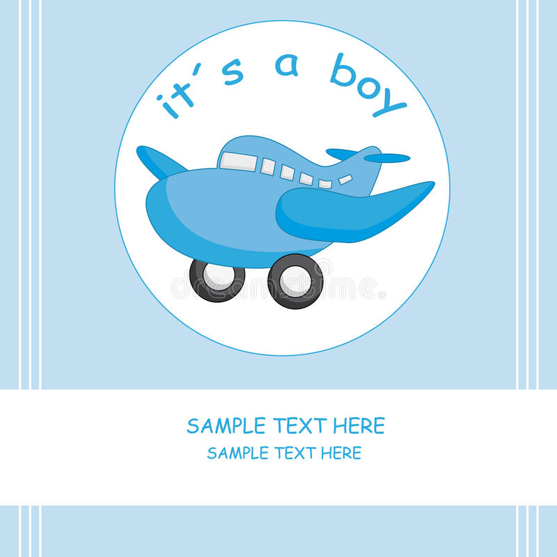 Baby boy announcement vector illustration