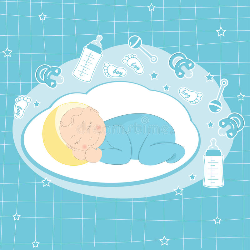 Download Baby Boy Announcement Card Royalty Free Stock Photos - Image: 24663918