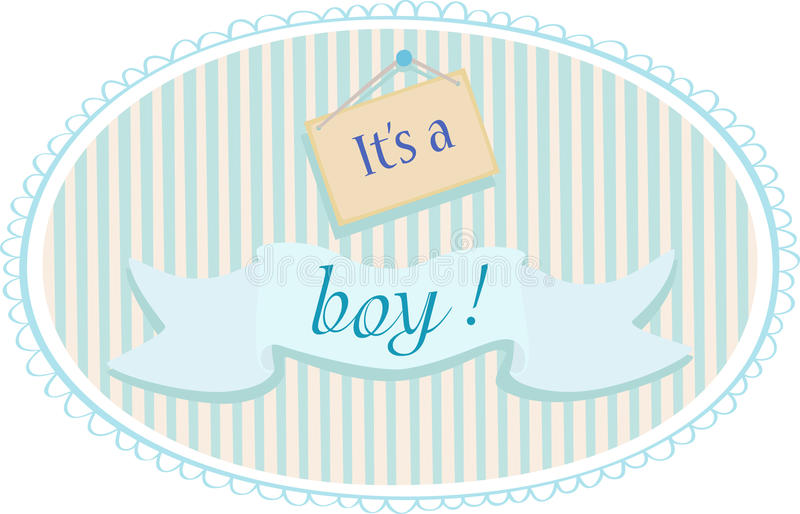 Baby boy announcement card stock illustration