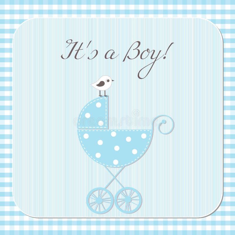 Baby boy arrival vector illustration