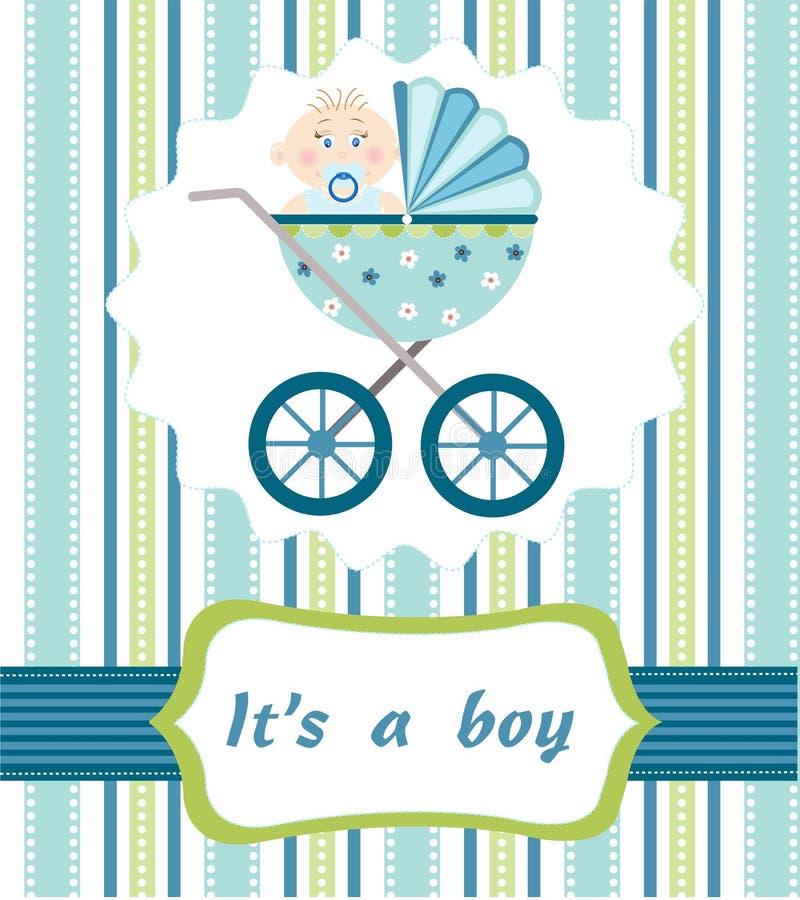 Baby boy arrival royalty free illustration
