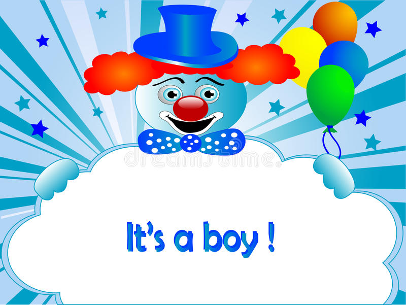 Download Baby boy arrival stock vector. Image of carnival, baby - 18529828