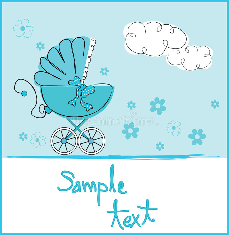 Baby boy arrival stock illustration