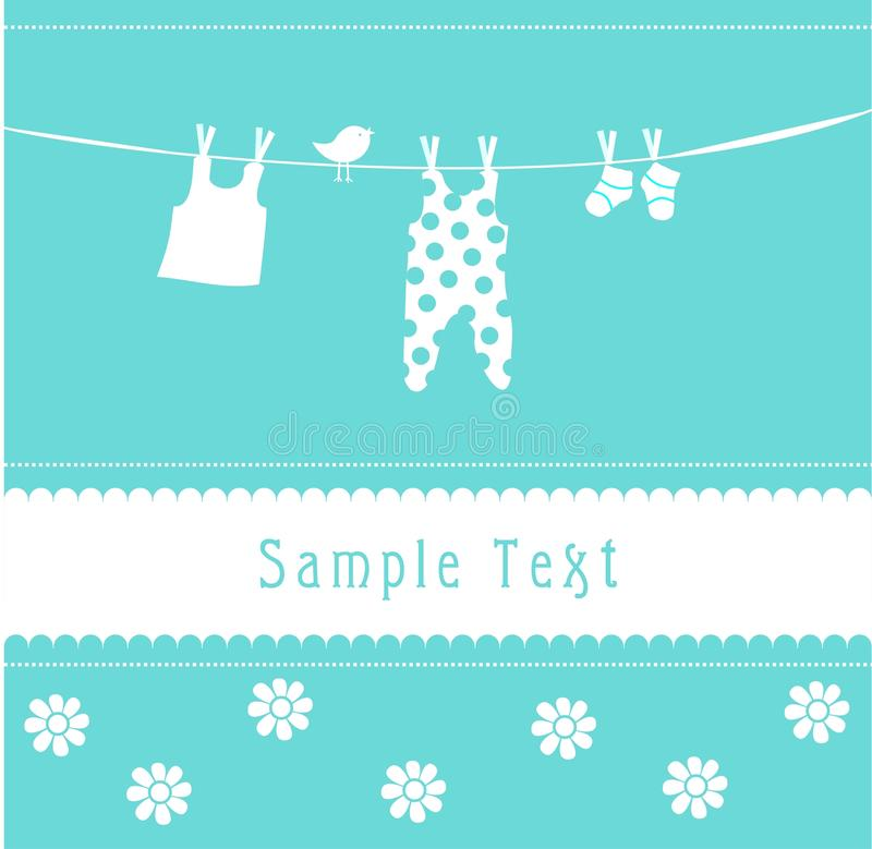 Download Baby Boy Arrival Announcement Card Stock Illustration - Image: 14462330