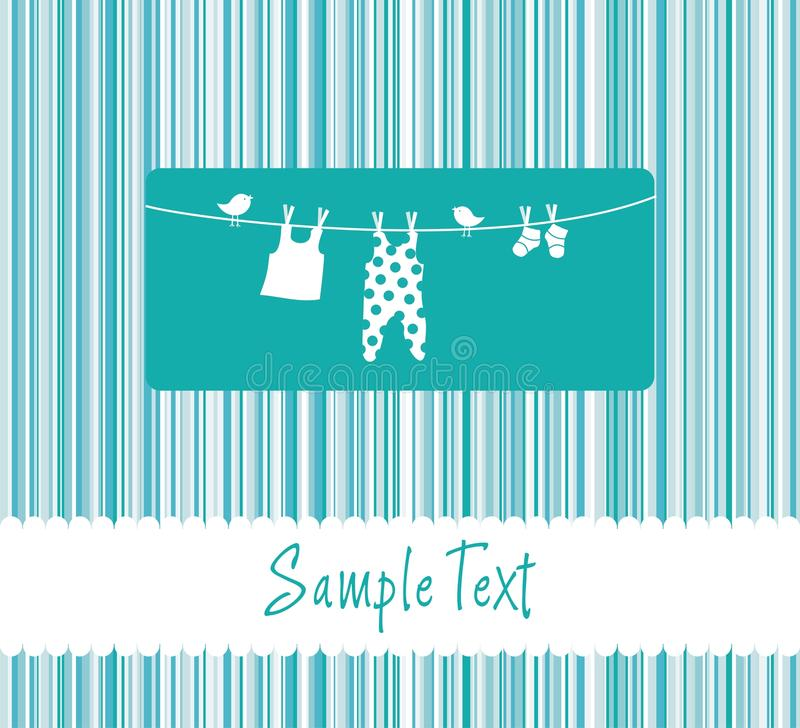 Download Baby Boy Arrival Announcement Card Stock Vector - Illustration: 14475094
