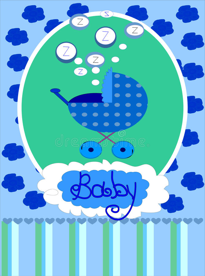 Download Baby Boy Arrival Announcement Card, . Royalty Free Stock Image - Image: 17774516