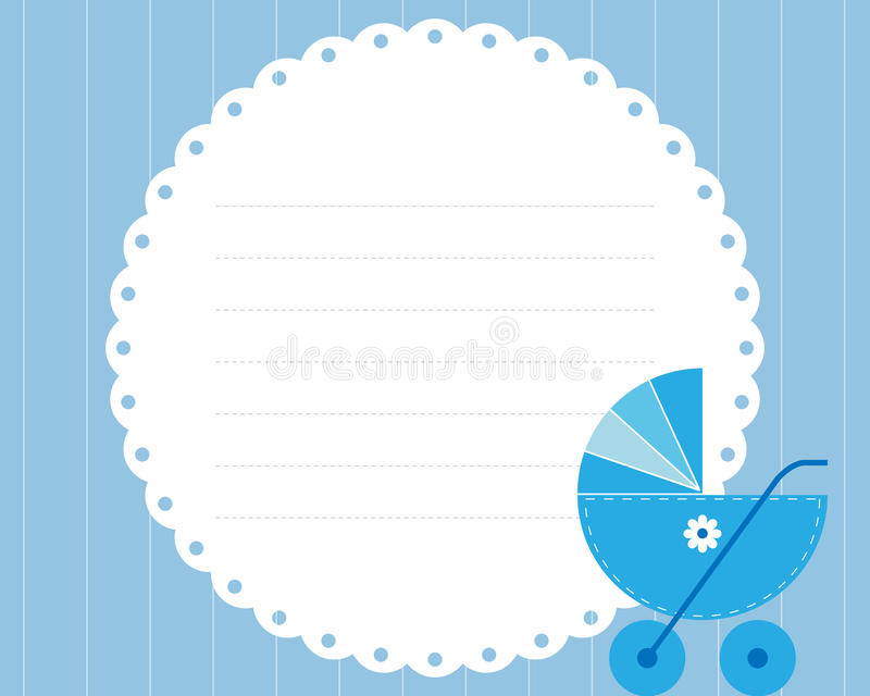 Download Baby boy arrival card stock vector. Image of birth, editable - 14245416
