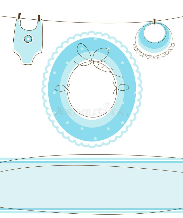 Download Baby Boy Arrival Design Stock Images - Image: 13644514