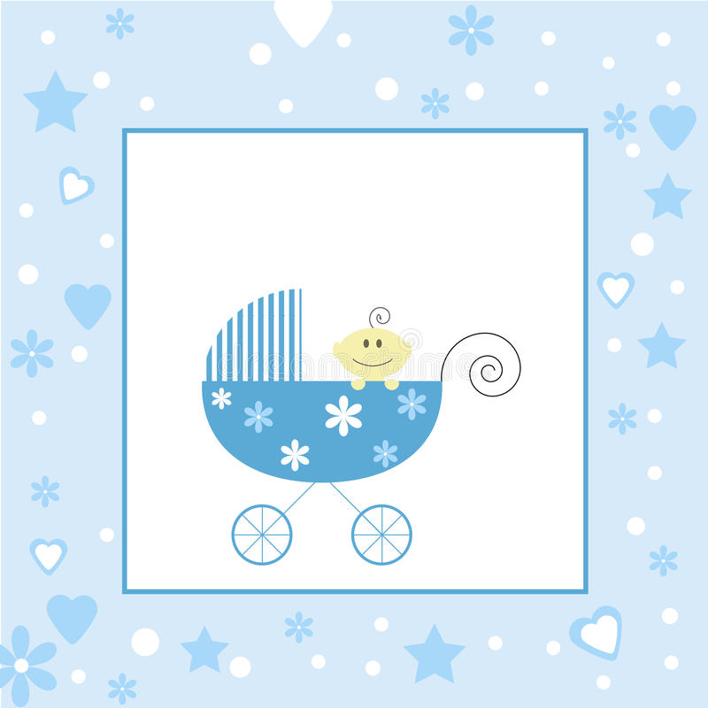 Baby Boy Arrival (Open Space For Your Text) Stock Photos