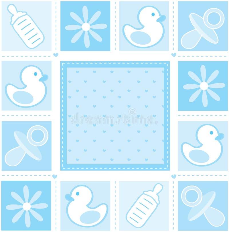 Baby boy background stock illustration