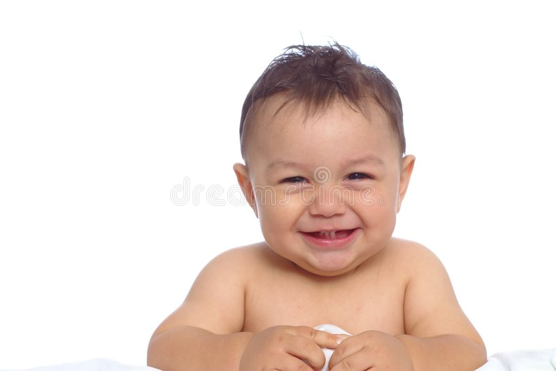 Download Baby Boy After Bath stock photo. Image of white, beautiful - 1300308