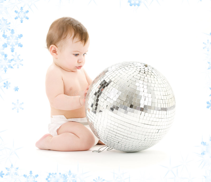 Download Baby Boy With Big Disco Ball Stock Image - Image of beautiful, looking: 7013963