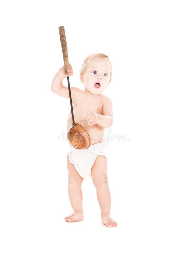 Download Baby boy with big scoop stock photo. Image of diaper - 11868070