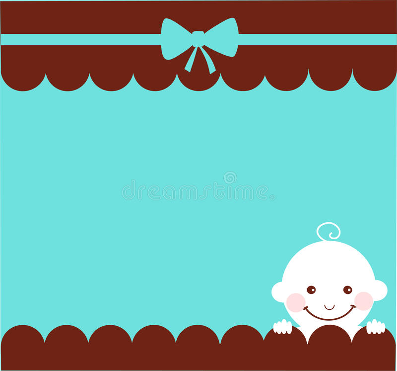 Baby boy birthday card royalty free illustration