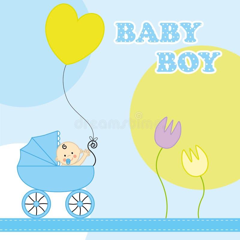 Baby Boy Birthday Card Stock Vector Illustration Of Happiness