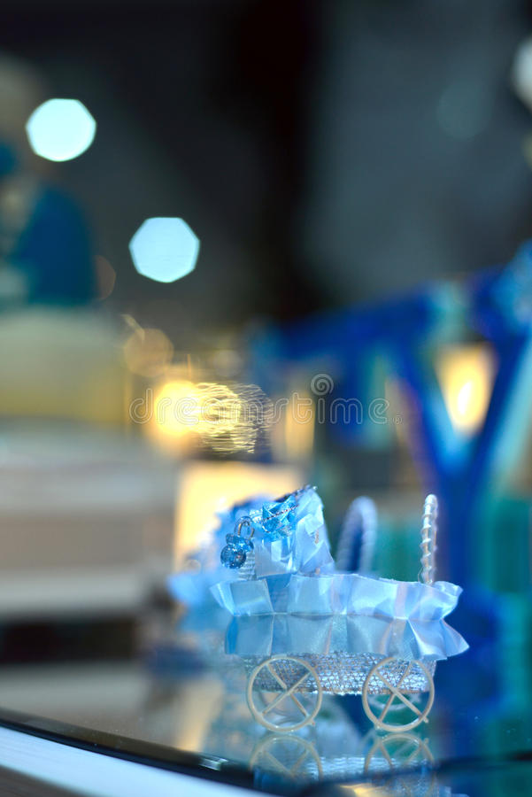 Baby boy birthday party decoration royalty free stock photo