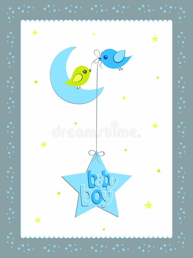 Download Baby Boy Card Design Royalty Free Stock Photo - Image: 22119705