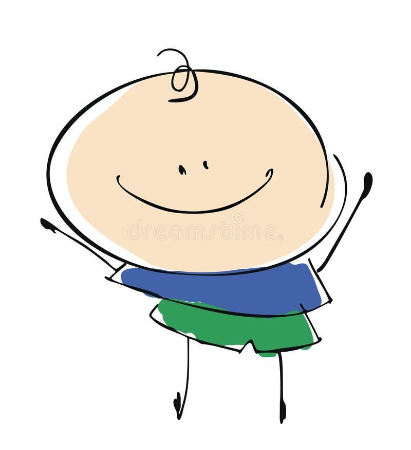 baby boy child happy smiling - cartoon people vector illustration set vector illustration