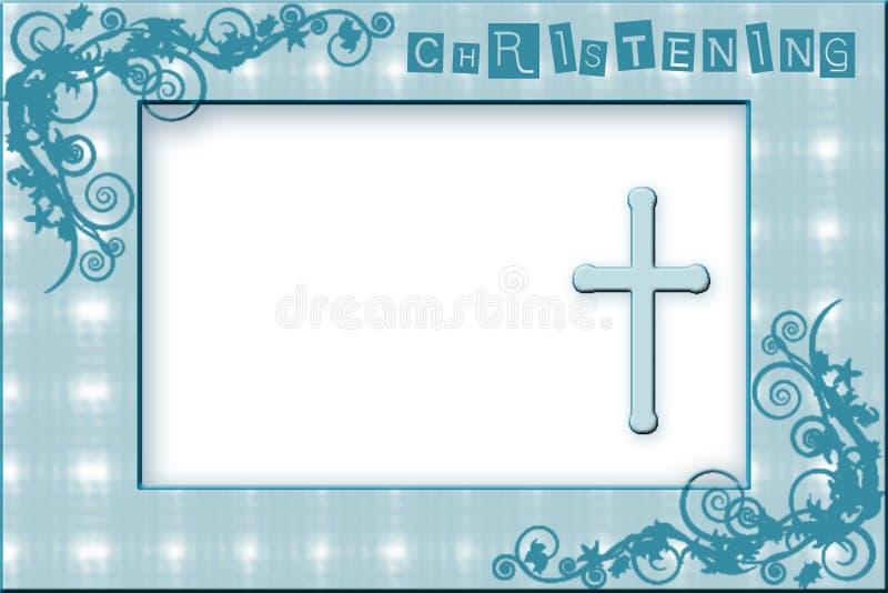 Baby Boy Christening Invitation stock photos