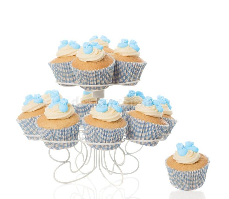 Baby Boy Cupcakes stock image