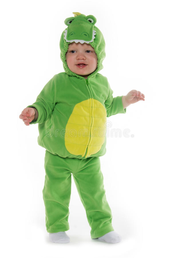 Download Baby boy in dragon costume stock photo. Image of lizard - 35541872