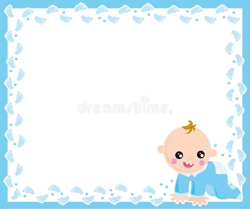 Baby boy frame. Illustration of frame of baby born boy