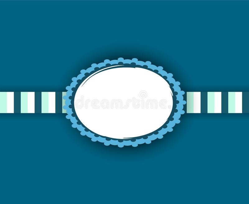 Baby boy frame design in blue and white. Copy space for your photo!. Baby born. It is a boy! Frame design in blue and white. Copy space for your photo vector illustration