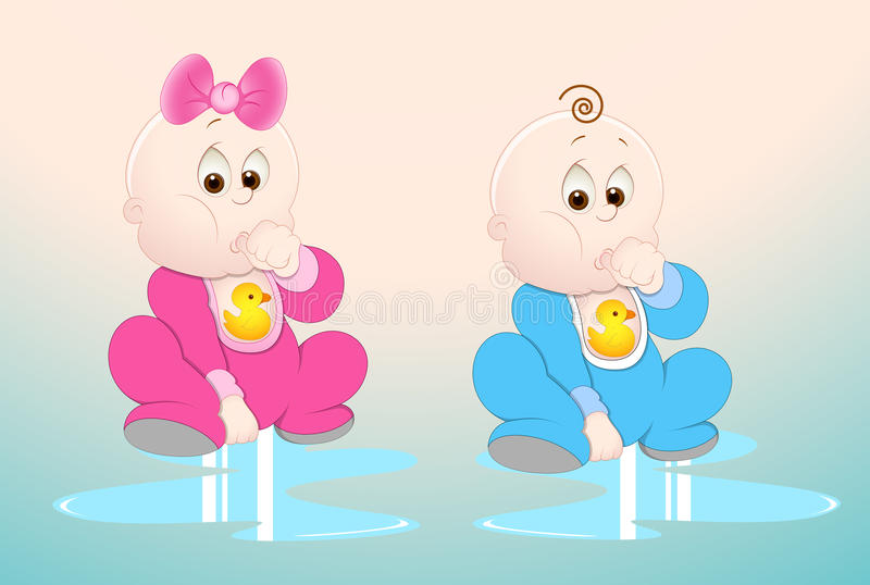 Download Baby Boy and Girl stock vector. Image of adorable, healthy - 24338871