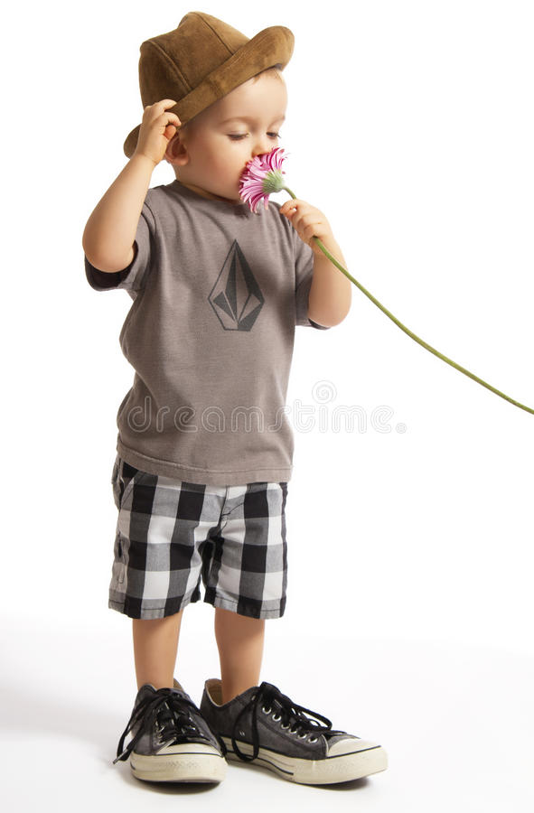 Download Baby Boy Holding Pretty Flower Stock Photo - Image: 20485070