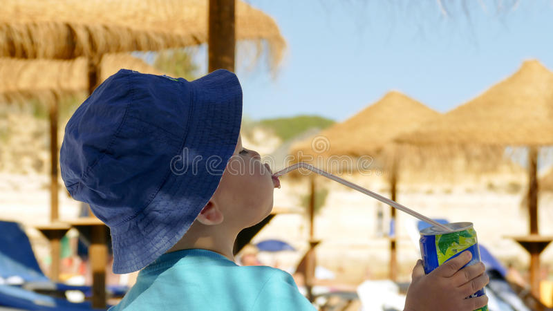 Baby boy - Holiday Relaxation concept royalty free stock image