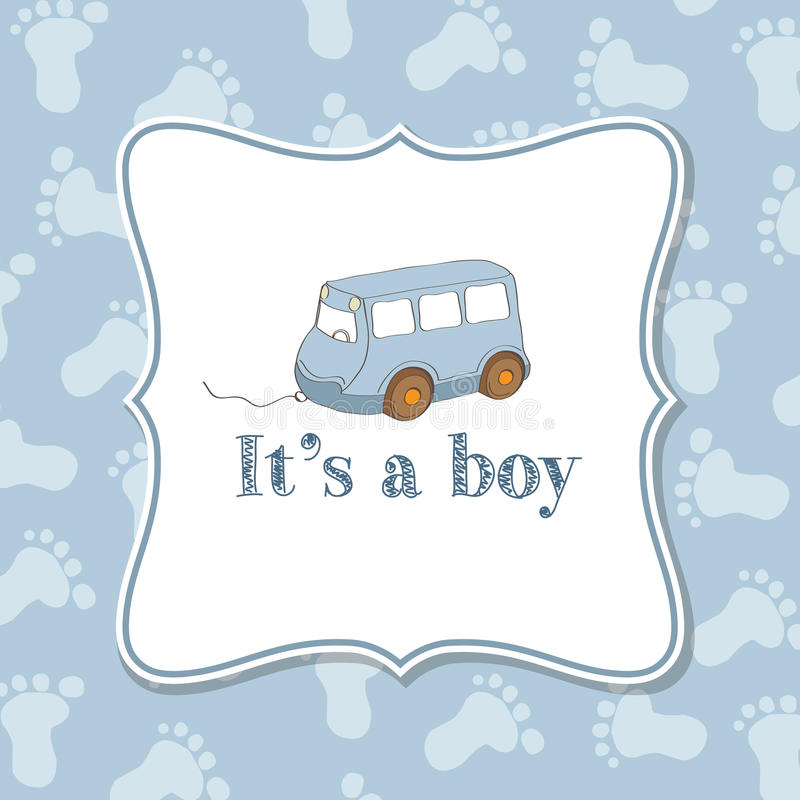 Free Baby Boy Invitation For Baby Shower Stock Photo - 49188330