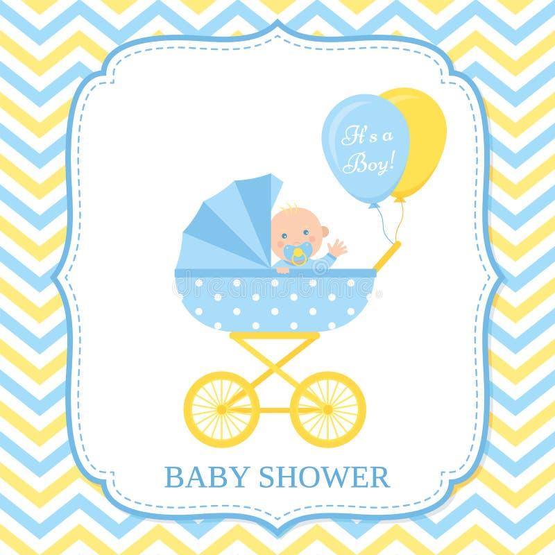 Baby Shower card design. Vector illustration. Birthday template invite royalty free illustration