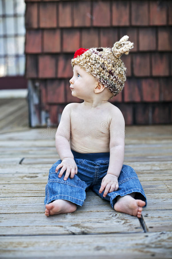Download Baby boy in knit hat stock photo. Image of health, christmas - 21864690