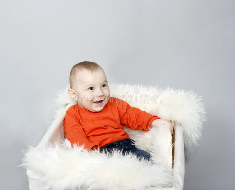 Baby Boy Laughing Royalty Free Stock Photo