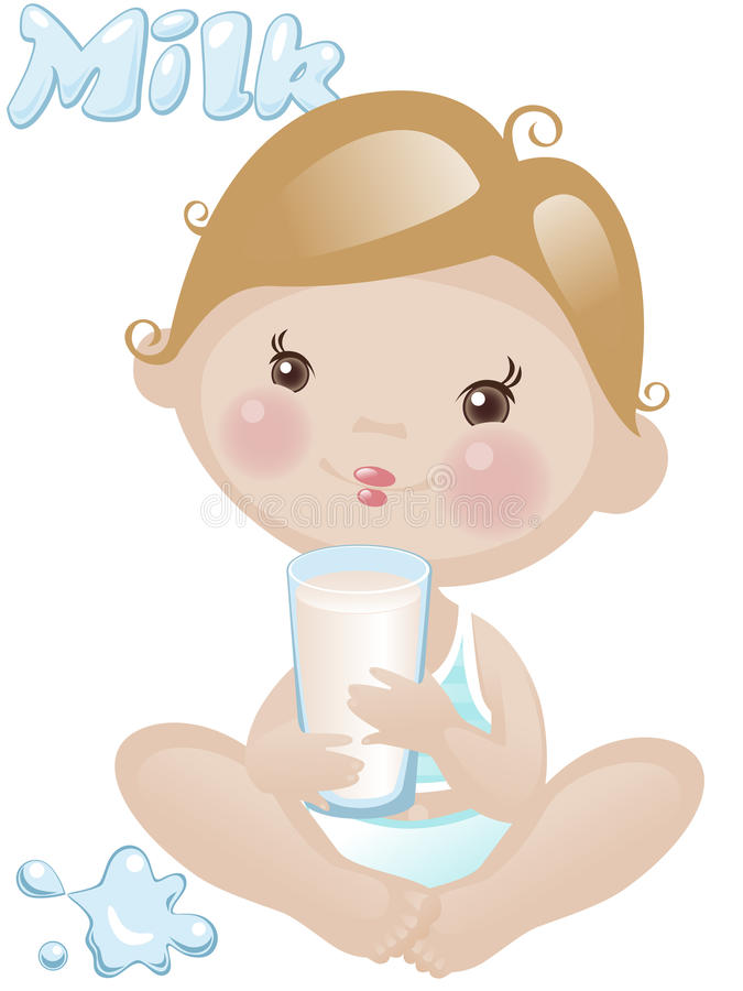 Download Baby Boy With Milk Stock Images - Image: 17826014