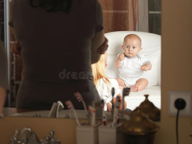 Baby boy 6 months stock photography