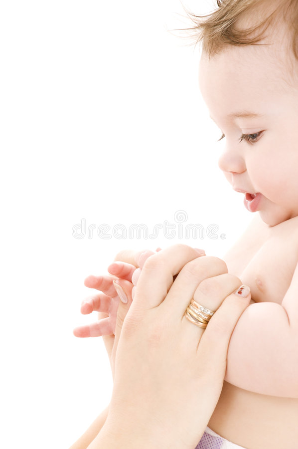 Download Baby boy in mother hands stock image. Image of hands, baby - 8431347