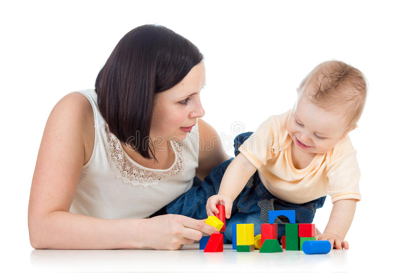 Download Baby Boy And Mother Play Royalty Free Stock Photos - Image: 28987518