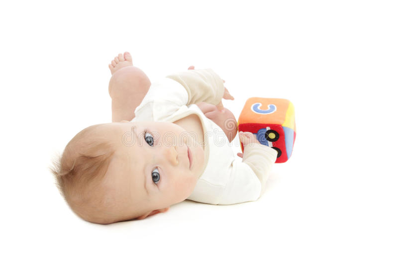 Download Baby Boy Playing With Block Stock Image - Image: 14443303