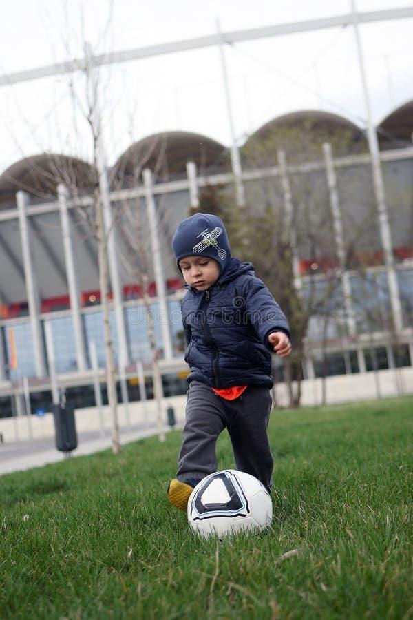 Download Baby boy playing football stock photo. Image of balls - 43751060