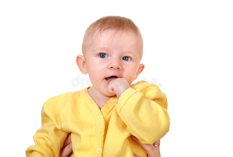 Download Baby Boy Portrait stock photo. Image of curious, background - 33433486