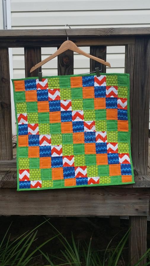 Baby boy quilt royalty free stock photo