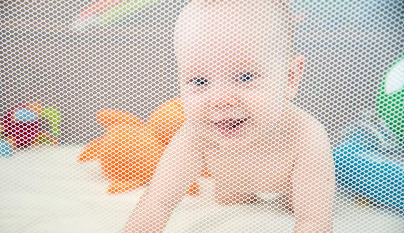 Baby boy in it`s safe place royalty free stock images