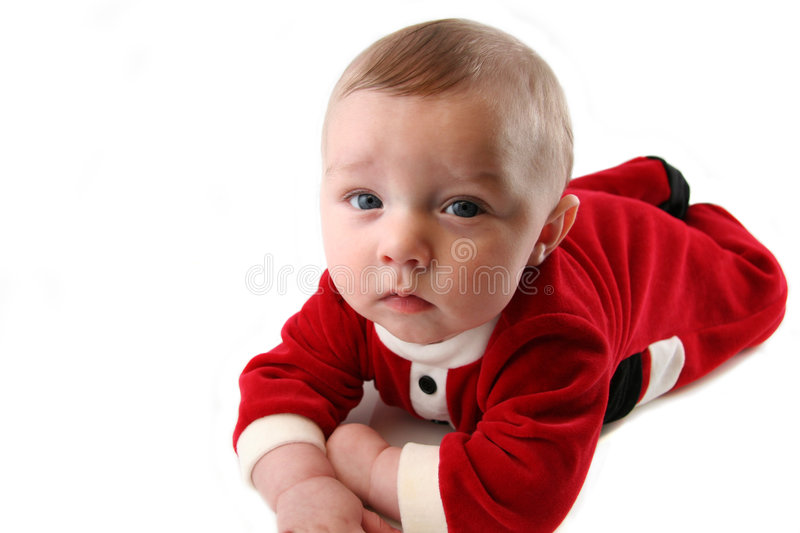 Download Baby Boy In Santa Claus Outfit Stock Photo - Image of colors, mouth: 1681752