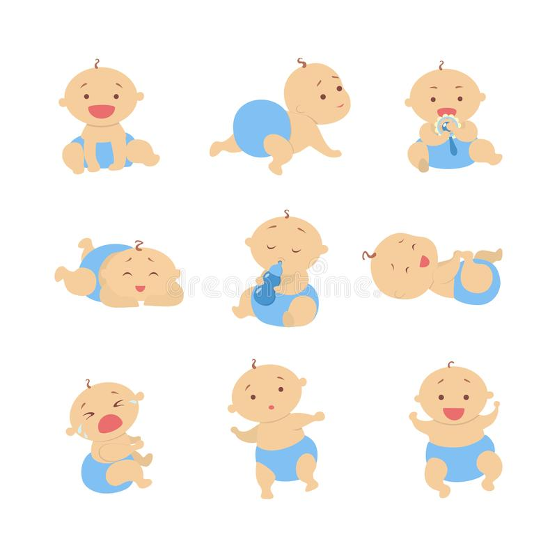 Baby boy set. stock illustration