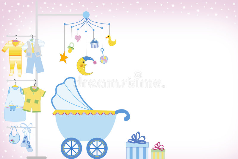 Baby boy shower stock illustration