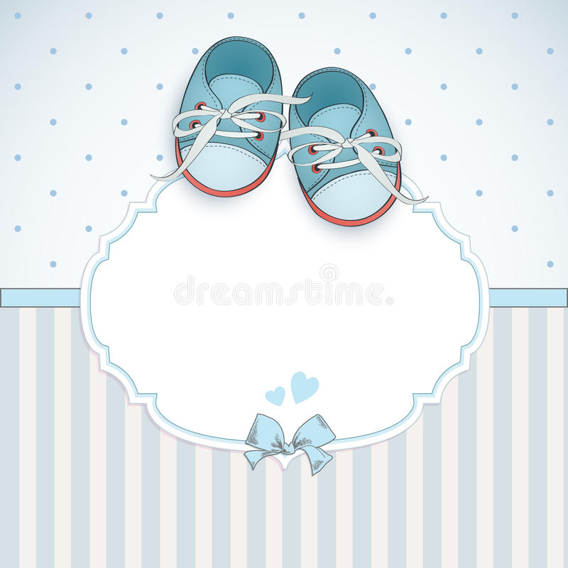 Baby boy shower card royalty free illustration