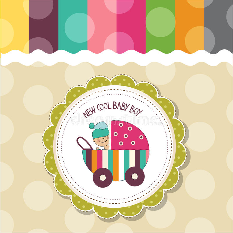 Baby boy shower card. Vector eps10 vector illustration