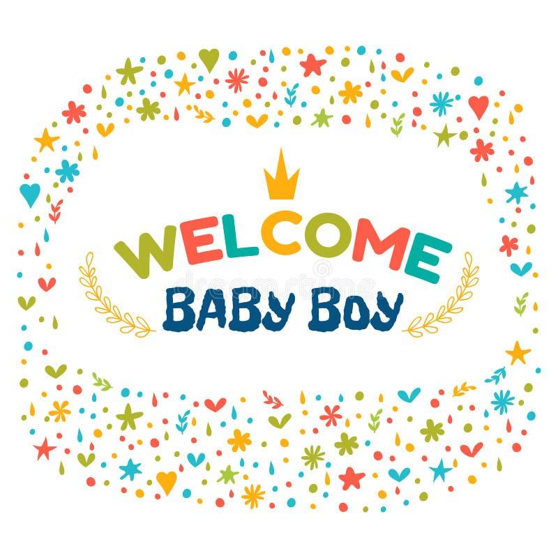 Baby boy shower card welcome baby boy baby boy arrival postcar download baby boy shower card welcome baby boy baby boy arrival postcar stock vector m4hsunfo