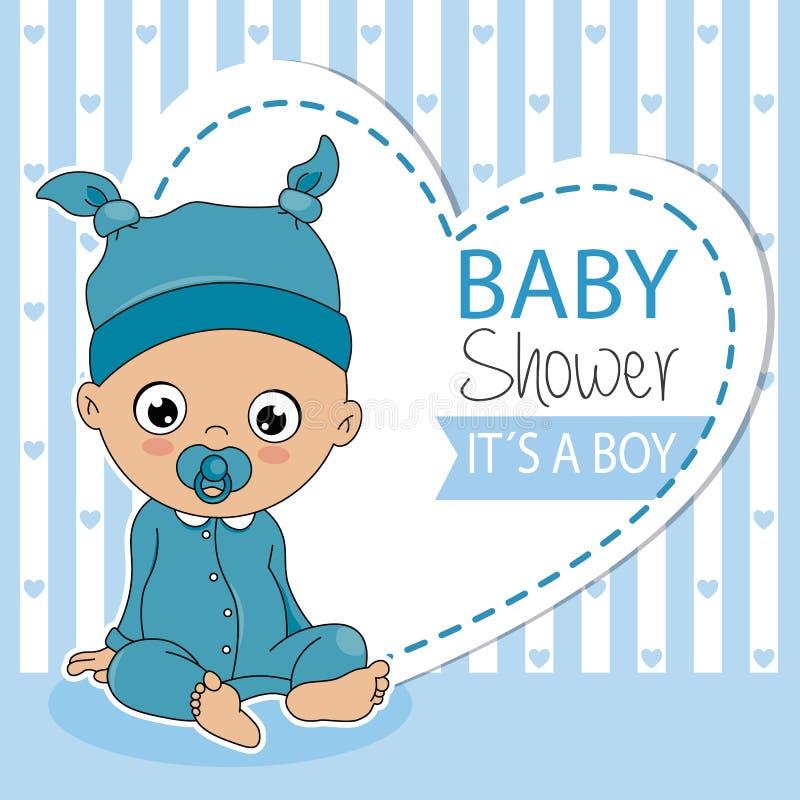 Baby boy sitting stock illustration
